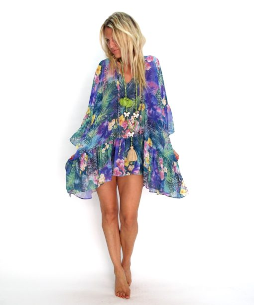 Poncho Tropical Matana vetement boheme chic les neobourgeoises tunique boheme robe boheme clothe boheme tunique chic vetement tunique fashion brand les neobourgeoises resortwear cannes