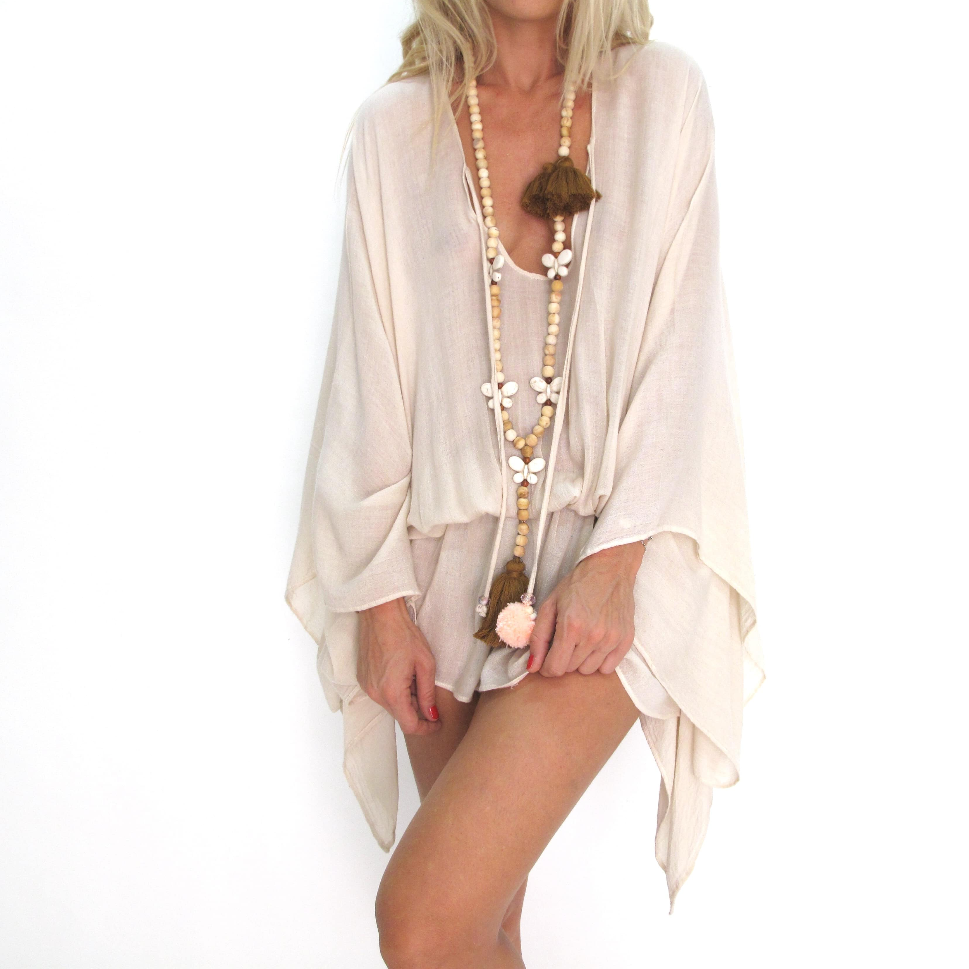 Poncho Tulum tunique boheme French fashion brand beachwear vetement boheme clothe beachwear les neobourgeoises tunique hippie chic resortwear nice resortwear cannes