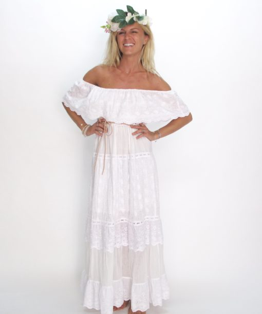 Dress Andalousie les neobourgeoises resortwear dress boheme robe boheme tunique boheme fashion brand beachwear vetement boheme clothe beachwear clothe resortwear boutique accessoirs boheme