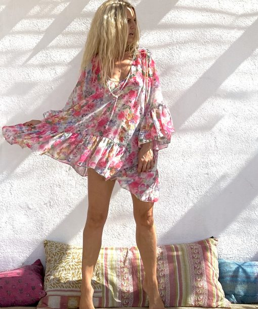 Dress matana pink - Les Néobourgeoises - Bohemian clothing - Bohemian boutique