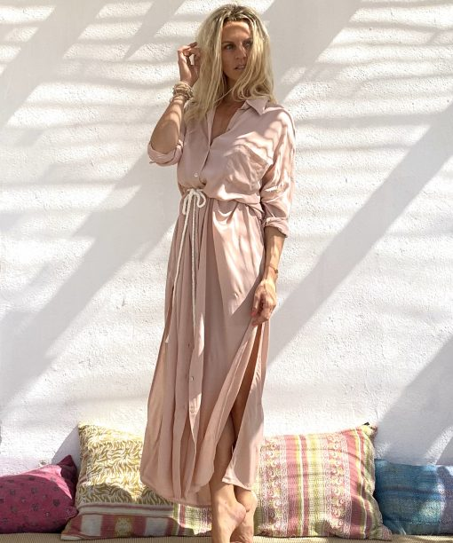 Dress melrose long nude - Les Néobourgeoises - Vêtements bohème