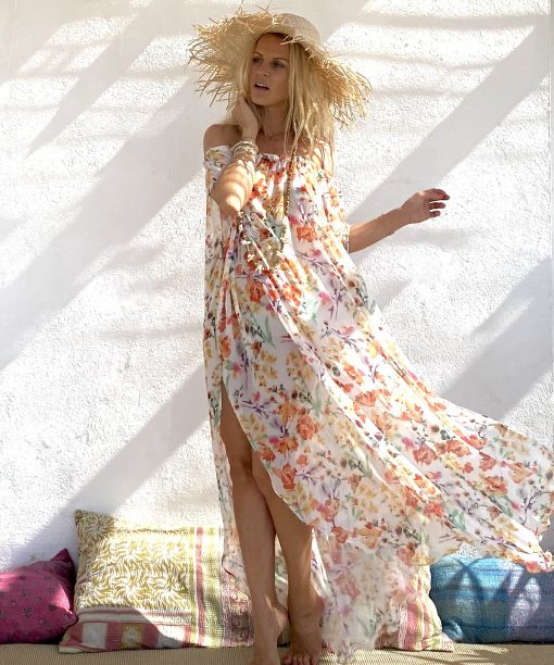 Dress holywood abricot - Les Néobourgeoises - Bohemian clothing - Bohemian boutique