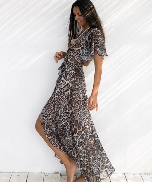 Dress malabar léopard - Les Néobourgeoises - Bohemian chic clothing