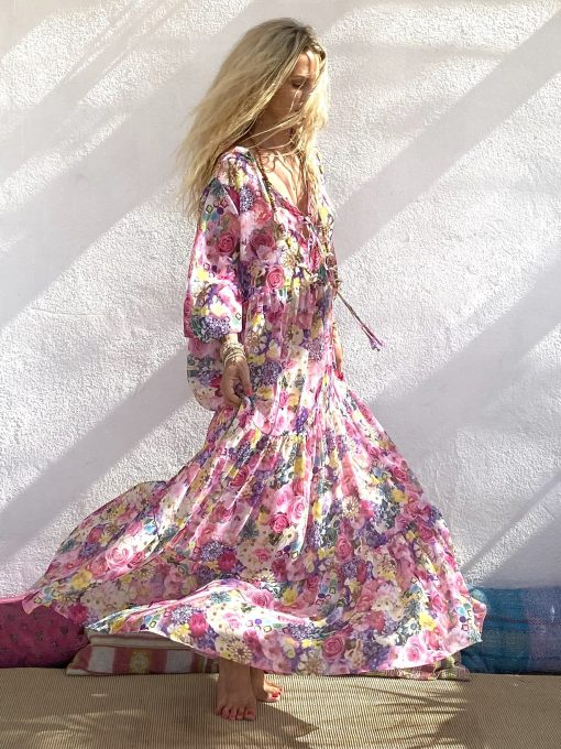 Dress dubai pink - Les Néobourgeoises - Bohemian chic clothing