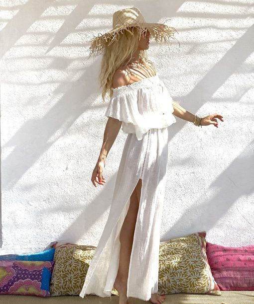Dress heart long white - Les Néobourgeoises - Bohemian chic clothing
