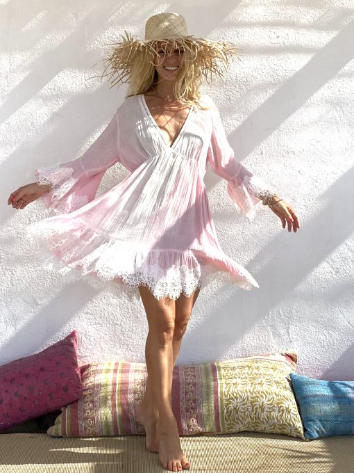 Dress start pink - Les Néobourgeoises - Bohemian clothing - Bohemian boutique
