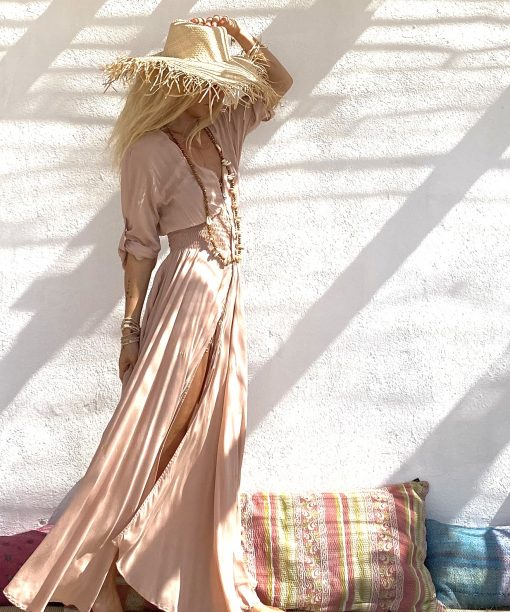 Dress pia nude - Les Néobourgeoises - Bohemian clothing - Bohemian boutique
